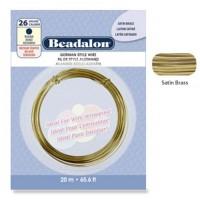 Round German Style Wire, 22 Gauge 10M, Satin Brass