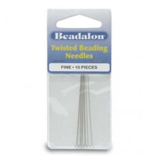 Fine Beadalon Twisted Needles, 8.9cm Long, Pack Of 10, 700F-201
