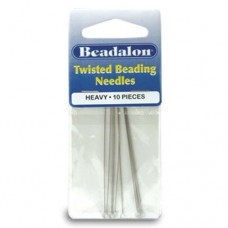 Heavy Twisted Needles, 5inch long, pack of 10, Beadalon 700H-201