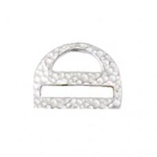 Miyuki-Strap Findings D shape 17.5x13mm Antique Silver, 2pieces