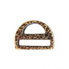 Miyuki-Strap Findings D shape 17.5x13mm Bronze, 2pieces