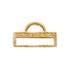 Miyuki-Strap Findings Rect. 19.5x11mm Gold, 2pieces
