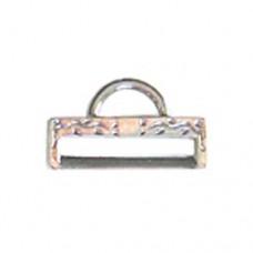 Miyuki-Strap Findings Rect. 19.5x11mm Silver, 2pieces