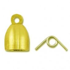 Beadalon EZ-Tie End Cone, Gold Colour, 1 set, 300A-061