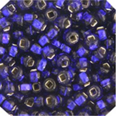 Silver Lined Transparent Dark Royal 2-022 Size 2/0, 22g approx.