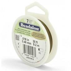 Beadalon JW03NG-15FT-C Satin Gold Crinkle Wire .018
