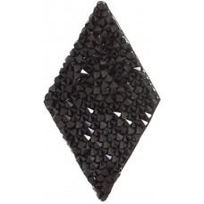 Swarovski Crystal Rock Diamonds 25x31.7mm Jet