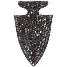 Swarovski Crystal Rock Arrow 63.5x31.7mm Silvershade Crystal