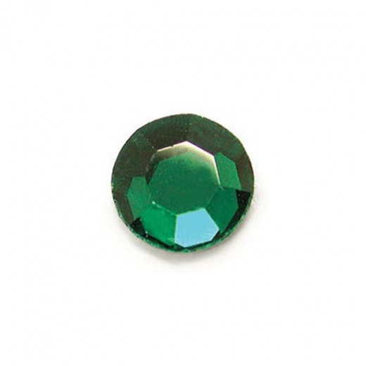 Swarovski Flat Back Crystal - Emerald 8.5mm