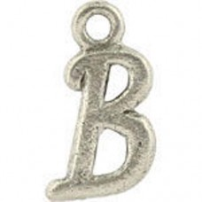 B Hanging Letter Charm 8x14mm