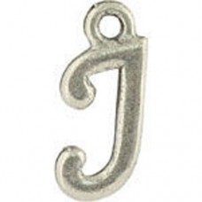 J Hanging Letter Charm 8x14mm