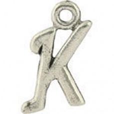 K Hanging Letter Charm 8x14mm