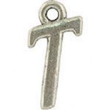 T Hanging Letter Charm 8x14mm