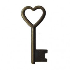 Open Key 33mm L x 14mm W Antique Brass