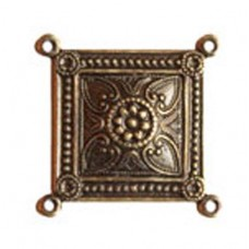 23mm 4 - Way Connector, Antique Brass Finish