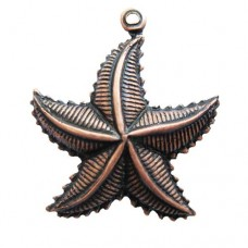Ocean Star 24mm L x 21mm W Antique copper