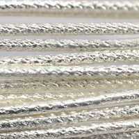 16 Gauge Fleck Pattern German Style Wire, 1M, Silver Plated