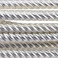 18 Gauge Spiral Pattern German Style Wire, 1.5M, Silver Plated
