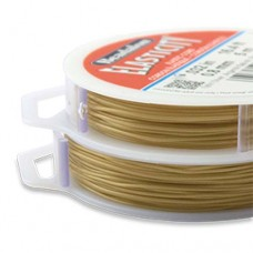 1 mm Satin Gold Round Elasticity, 25m reel