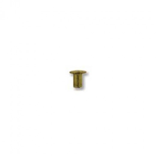 Metal Elements Brass Hollow Rivets for Metal Stamping, 1/16dia 1/16 length, 100 pcs