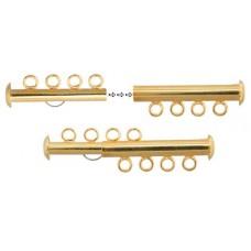 4 Strand Multi Slide Clasp Gold Colour