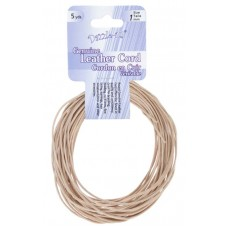 Genuine Leather Cord  1mm Round Natural 5yds