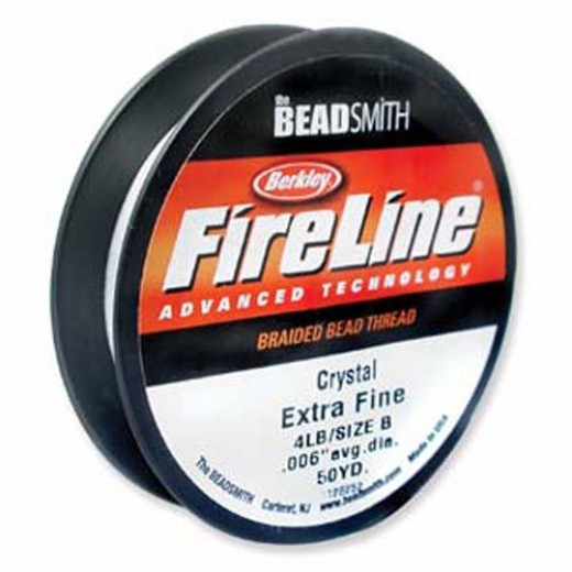 Fireline Thread, 4lb Crystal Clear 50yd 0.006
