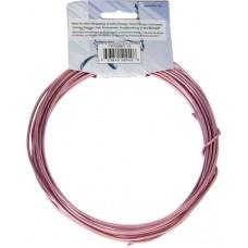 Aluminium Wire 12ga (2.5mm)  30ft Round Rose