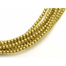 Olive Shiny 2mm Glass Pearls, Approx 150 Beads