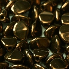 Jet Bronze 5x3mm Pinch Beads, Approx 10gms