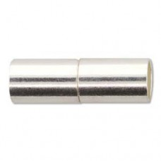 22.5mm Magnetic Tube Clasp, Silver, Pack of 2