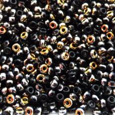 Jet Marea Coated Miyuki Beads, colour 4560. 22g approx.