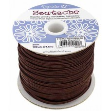 Light Chocolate 3mm Soutache, 10 Metre Length