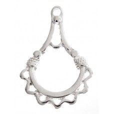 Chandelier Earring 28x19.5mm Silver Colour, 1 Pair