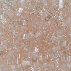 Light Rosaline Transparent Half Tila Beads, colour 0365, 5.2gm approx.