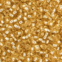 Bulk Bag Light Gold Silver Lined Miyuki 11/0 Seed Beads, 250g, Colour 0002