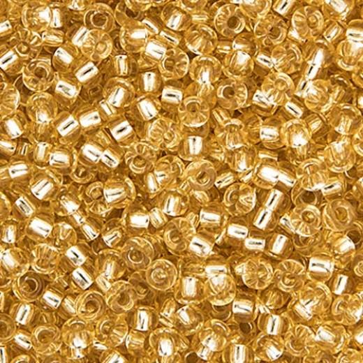 Bulk Bag Light Gold Silver Lined Miyuki 11/0 Seed Beads, 250g, Colour 0002