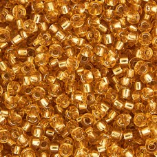 Dark Gold Silver Lined Miyuki 11/0 Seed Beads, Approx 22g, Colour 0004