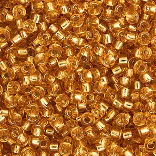Dark Gold Silver Lined Miyuki 11/0 Seed Beads, 250g, Colour 0004
