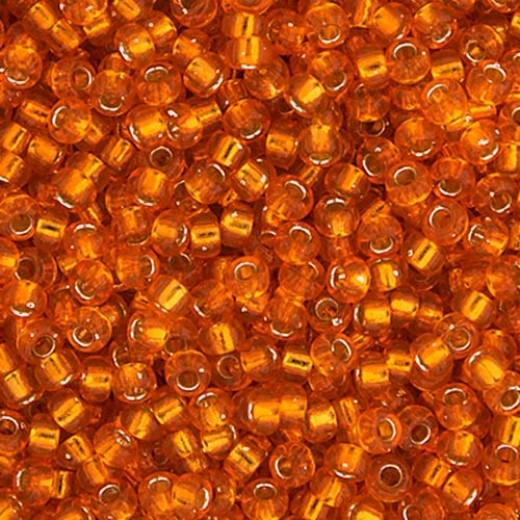 Orange Silver Lined Miyuki 11/0 Seed Beads, 250g, Colour 0008