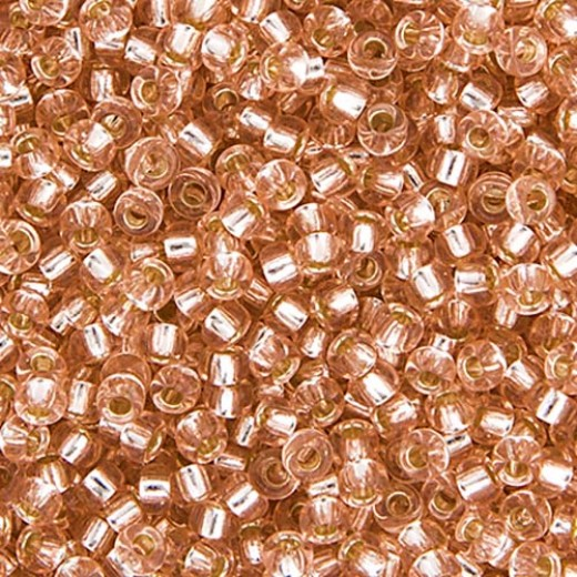 Pink Mist Silver Lined Miyuki 11/0 Seed Beads, 250g, Colour 0023
