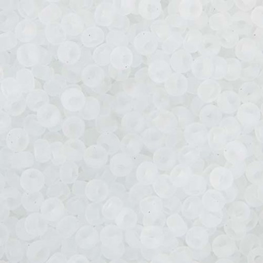 Bulk Bag Crystal Transparent Matte Miyuki 11/0 Seed Beads, 250g, Colour 0131F