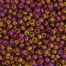 Dark Topaz Rainbow Gold Luster Miyuki 11/0 Seed Beads, 250g, Colour 0301