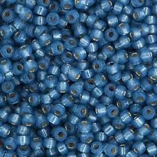 Denim Blue Silver Lined Dyed Alabaster Miyuki 11/0 Seed Beads, 250g, Colour 0648