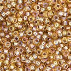 Bulk Bag Gold Silver Lined AB Miyuki 11/0 Seed Beads, 250g, Colour 1003