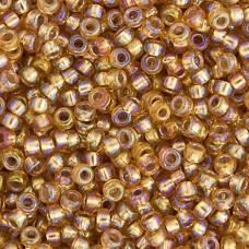 Dark Gold Silver Lined AB Miyuki 11/0 Seed Beads, 250g, Colour 1004