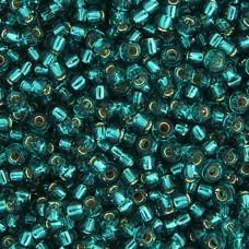 Teal Caribbean Silver Lined Miyuki 11/0 Seed Beads, 250g, Colour 2425