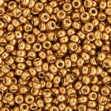 Duracoat Galvanized Yellow Gold Miyuki 11/0 Seed Beads, 250g, Colour 4203