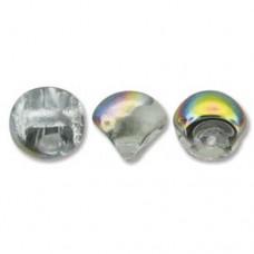 Crystal Vitrail Mushroom Bead 9x8mm - 30 beads