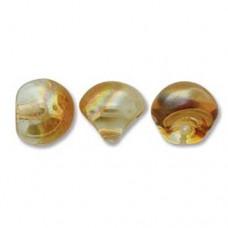 Crystal Apricot Mushroom Bead 9x8mm - 30 beads
